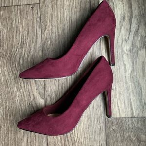 Forever 21 Maroon Suede Pumps